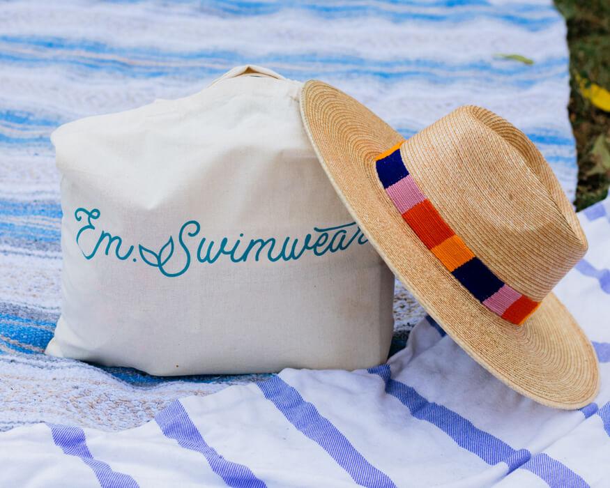 Em Swimwear Bag Hat Angelica Carrete Photography