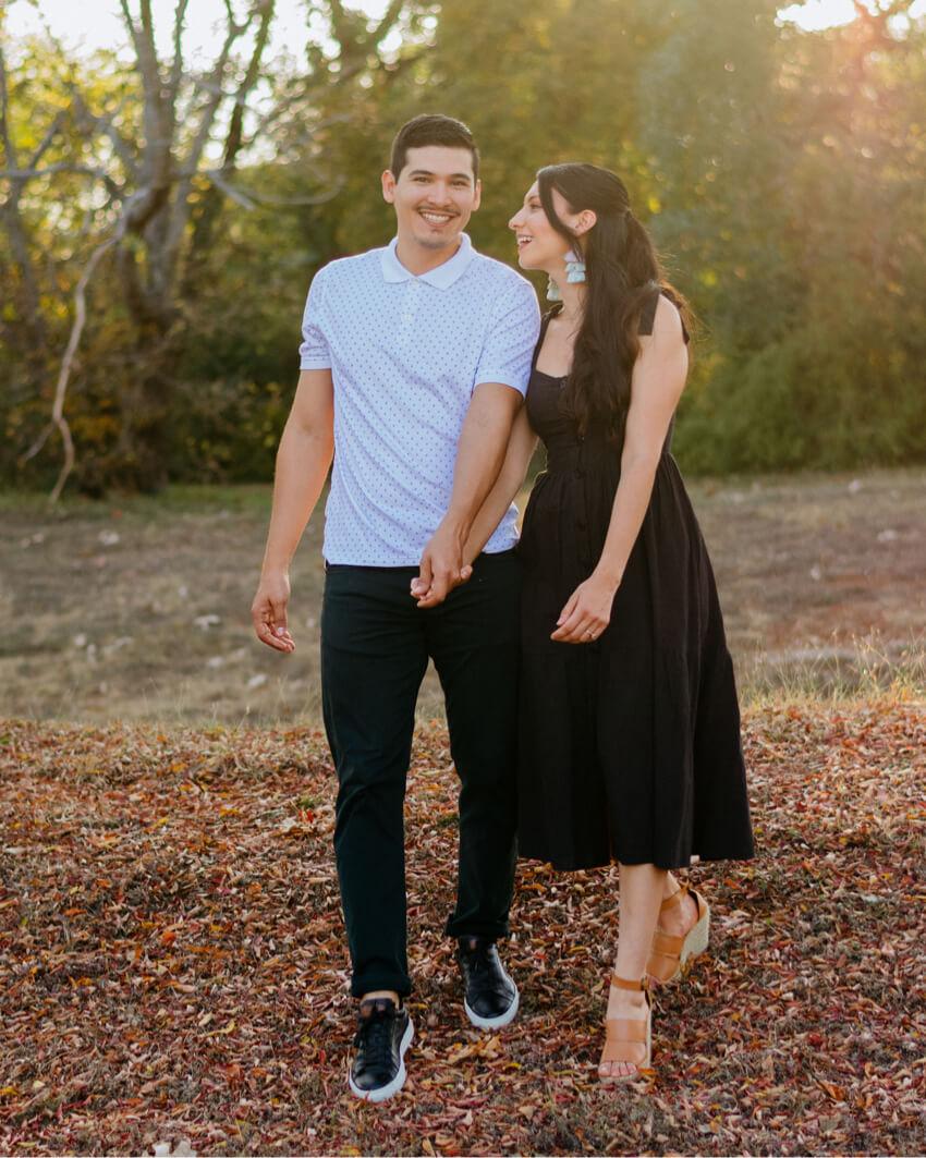 Sarah Armando Couple Portrait Photography Walking