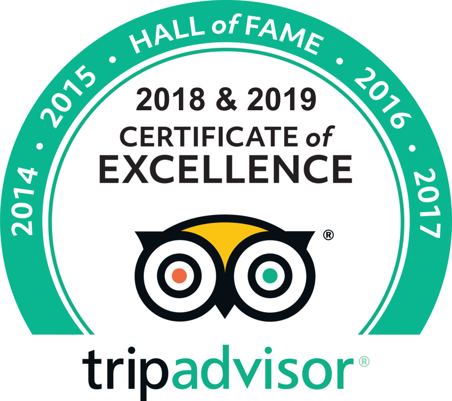 Award for Trip Advisor hall of fame