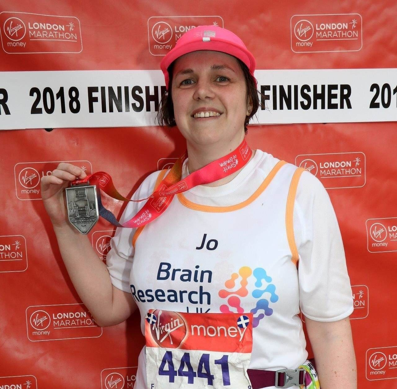Jo following her completion of 2018 London Marathon