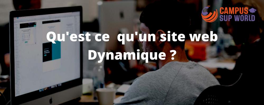 Qu'est ce qu'un site web dynamique ?