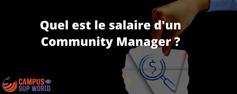 Salaire de Community Manager
