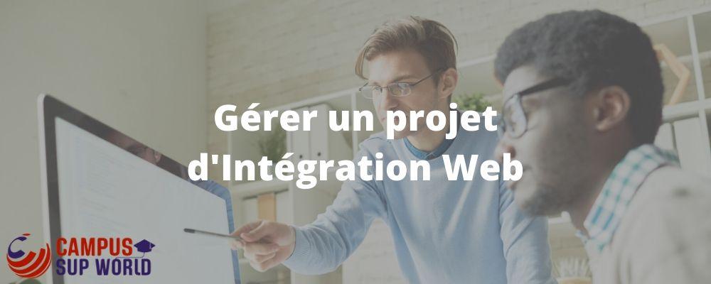 Gérer un projet d'intégration Web