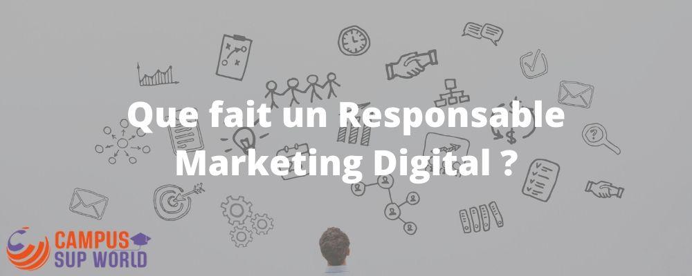 Le Rôle de Responsable Marketing Digital