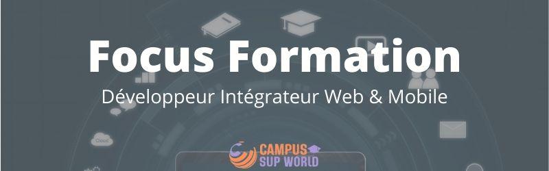 Focus sur la formation développeur web et mobile