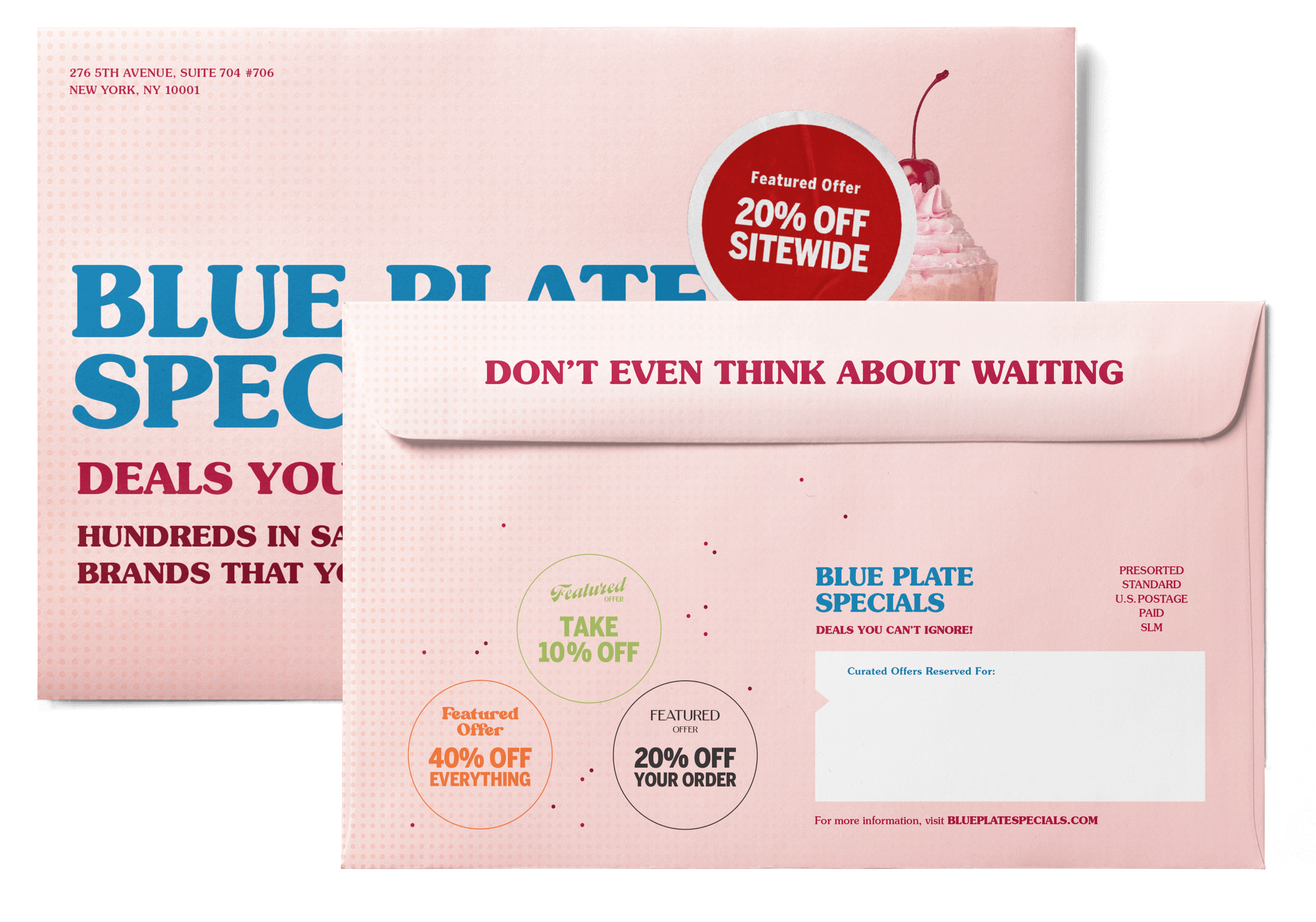 blue plate specials front and back envelope.