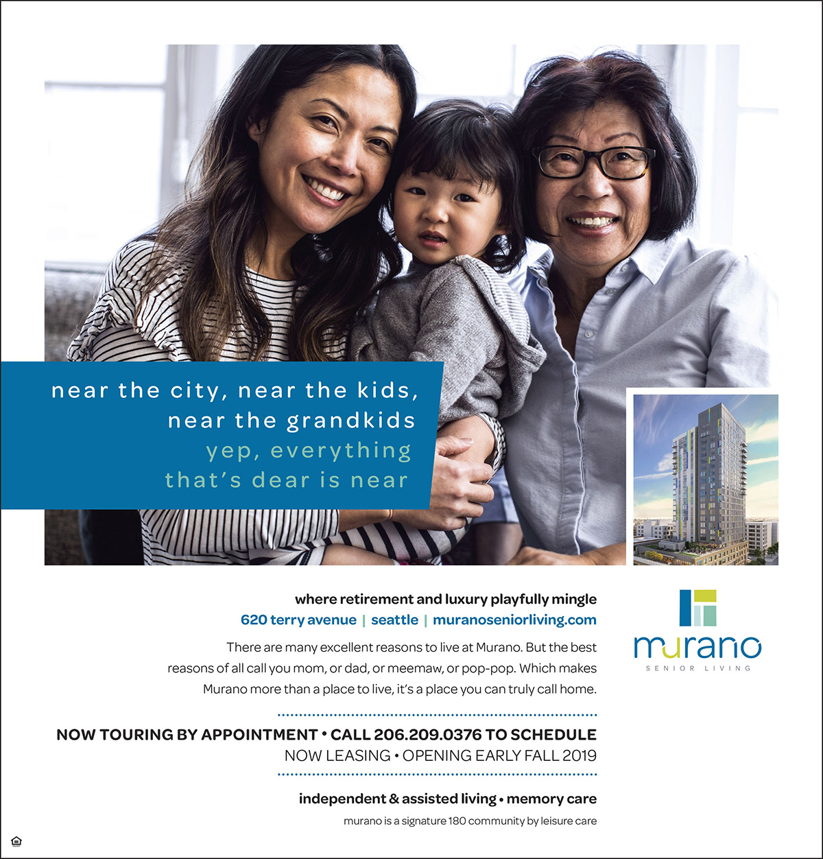 Murano Senior Living - Print Ad