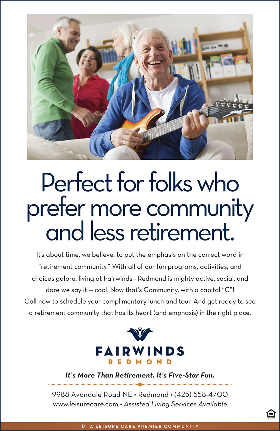 Leisure Care Retirement Communities - Independent Living Ad