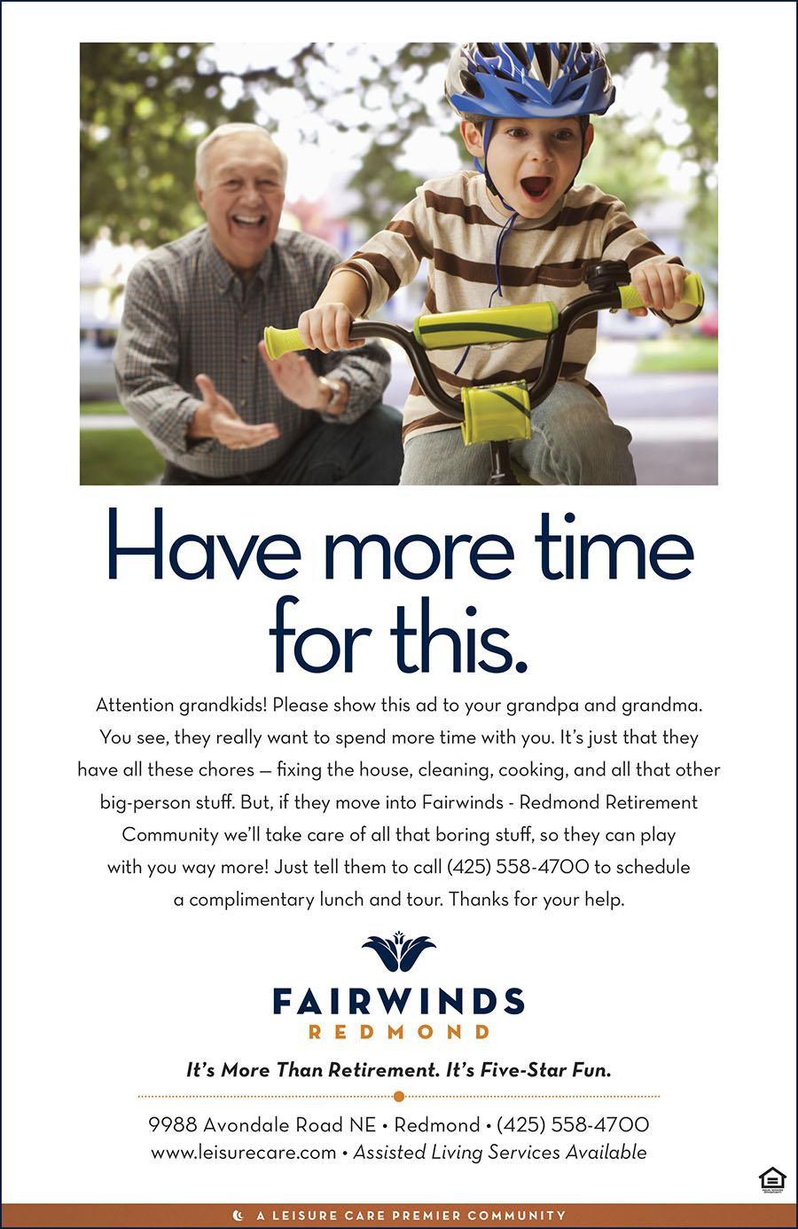 Leisure Care Retirement Communities - Branding Ad