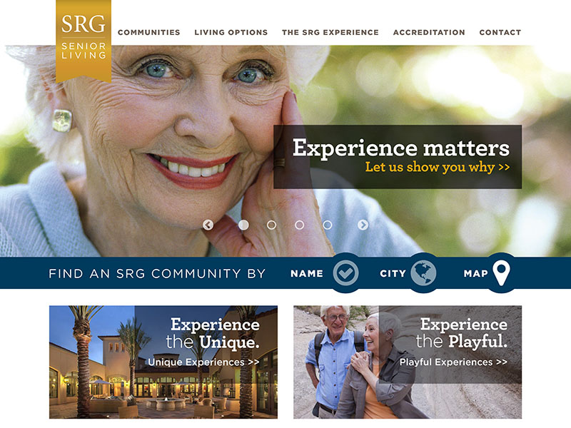 SRG Senior Living Website