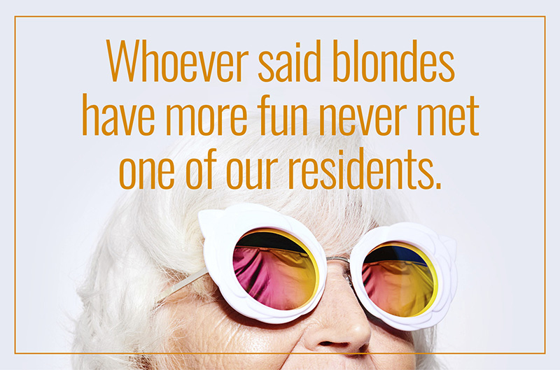 How About Some Wit To Go With Your Retirement Community Advertising?