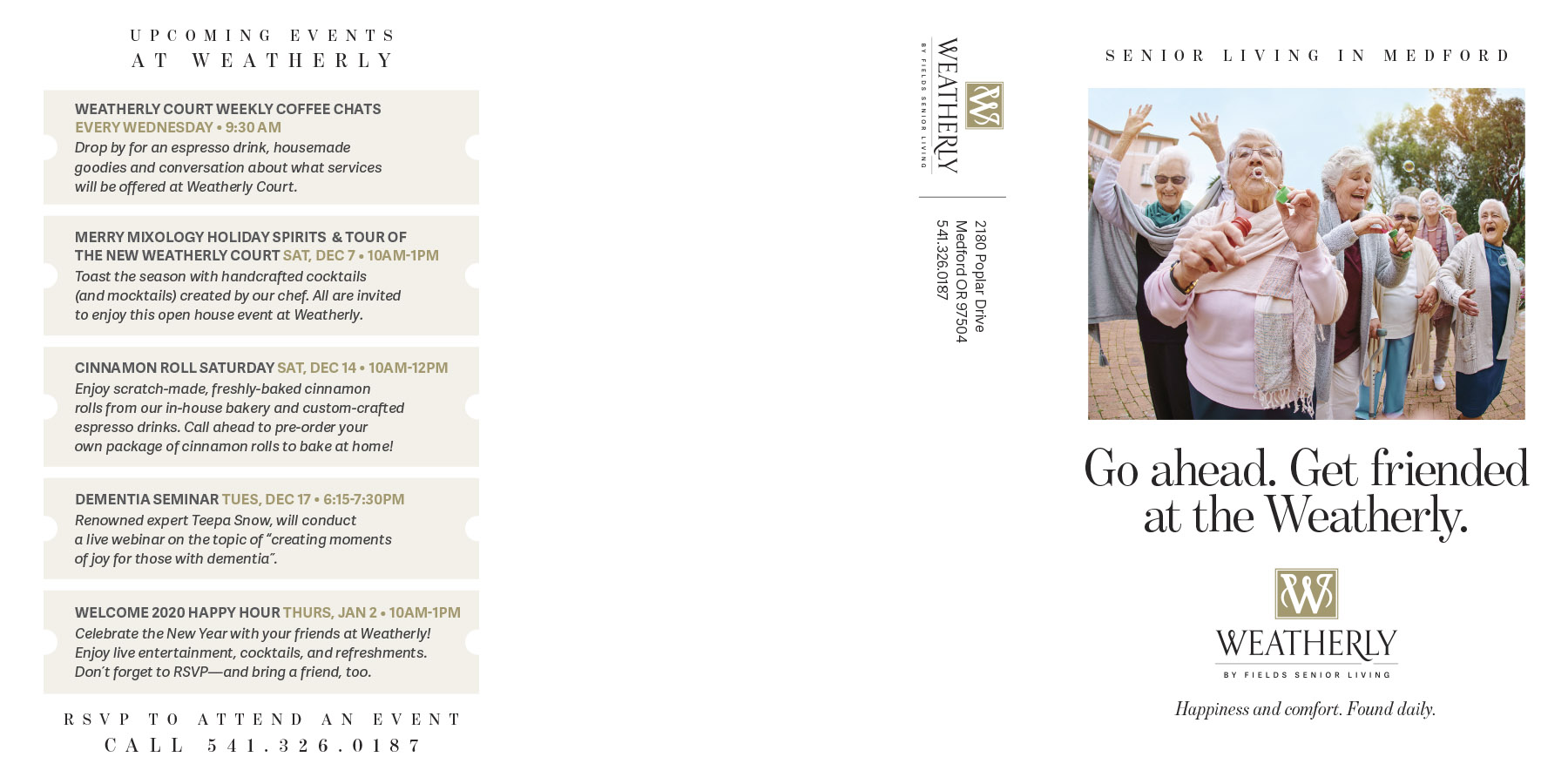 Fields Senior Living - Direct Mail - Weatherly