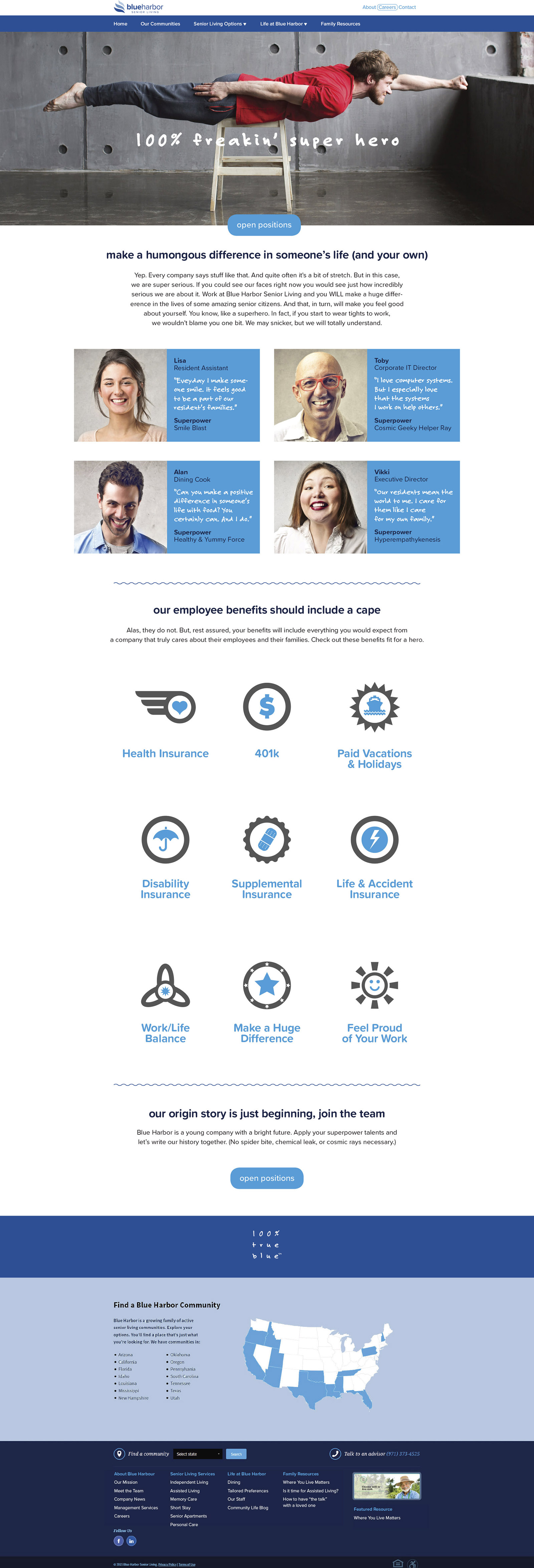 Blue Harbor Senior Living - Careers Website Marketing