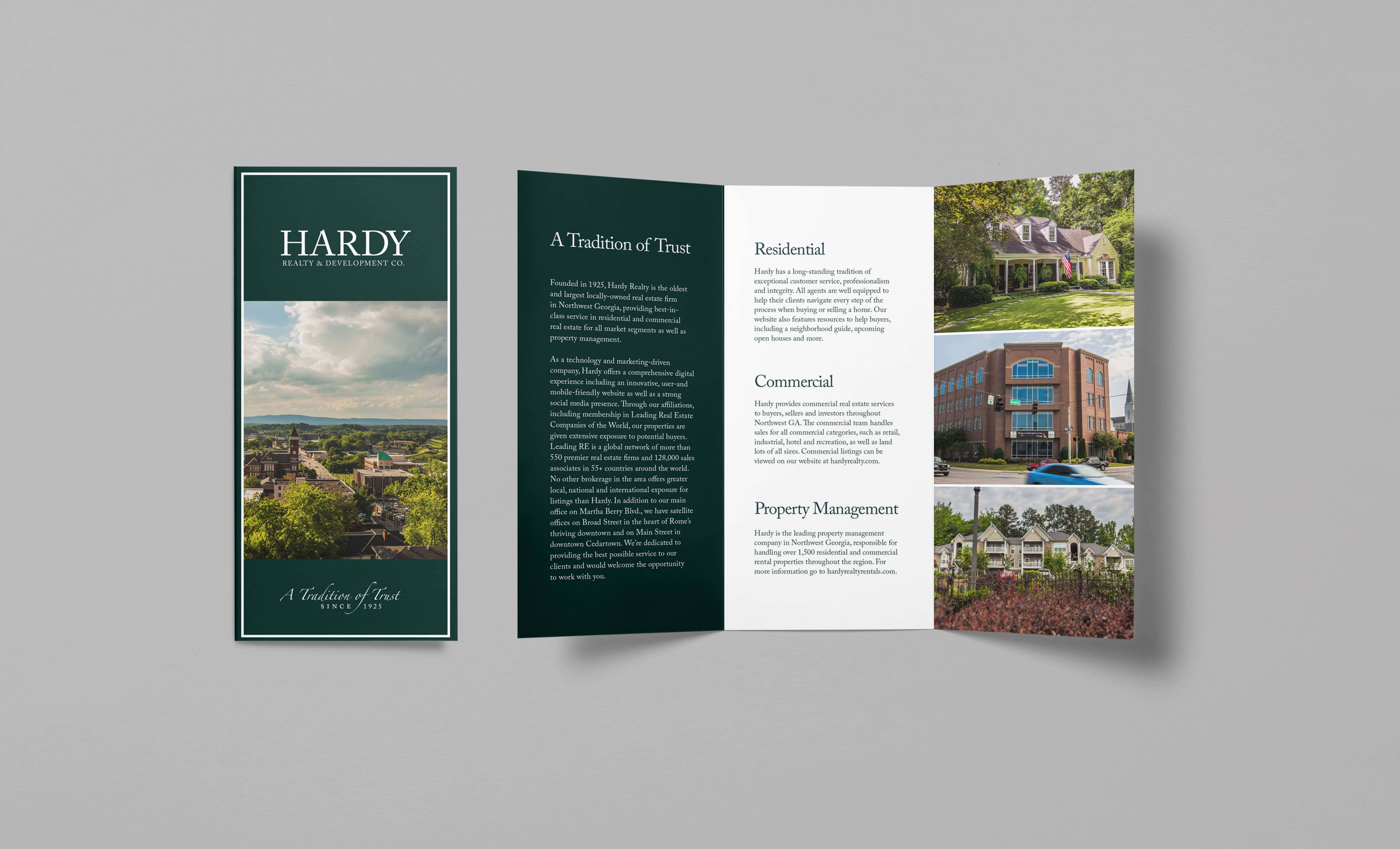 hardy real estate brochure design