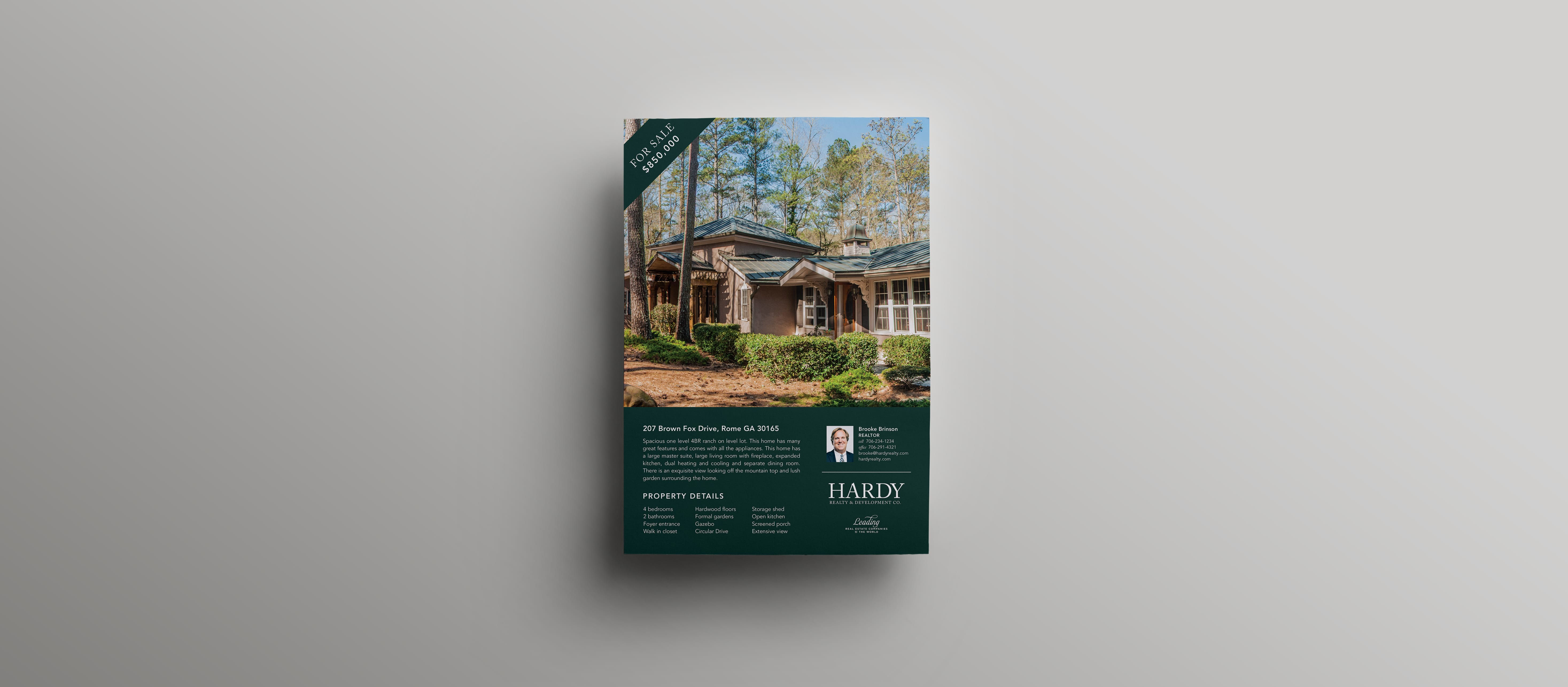 hardy real estate flyer design