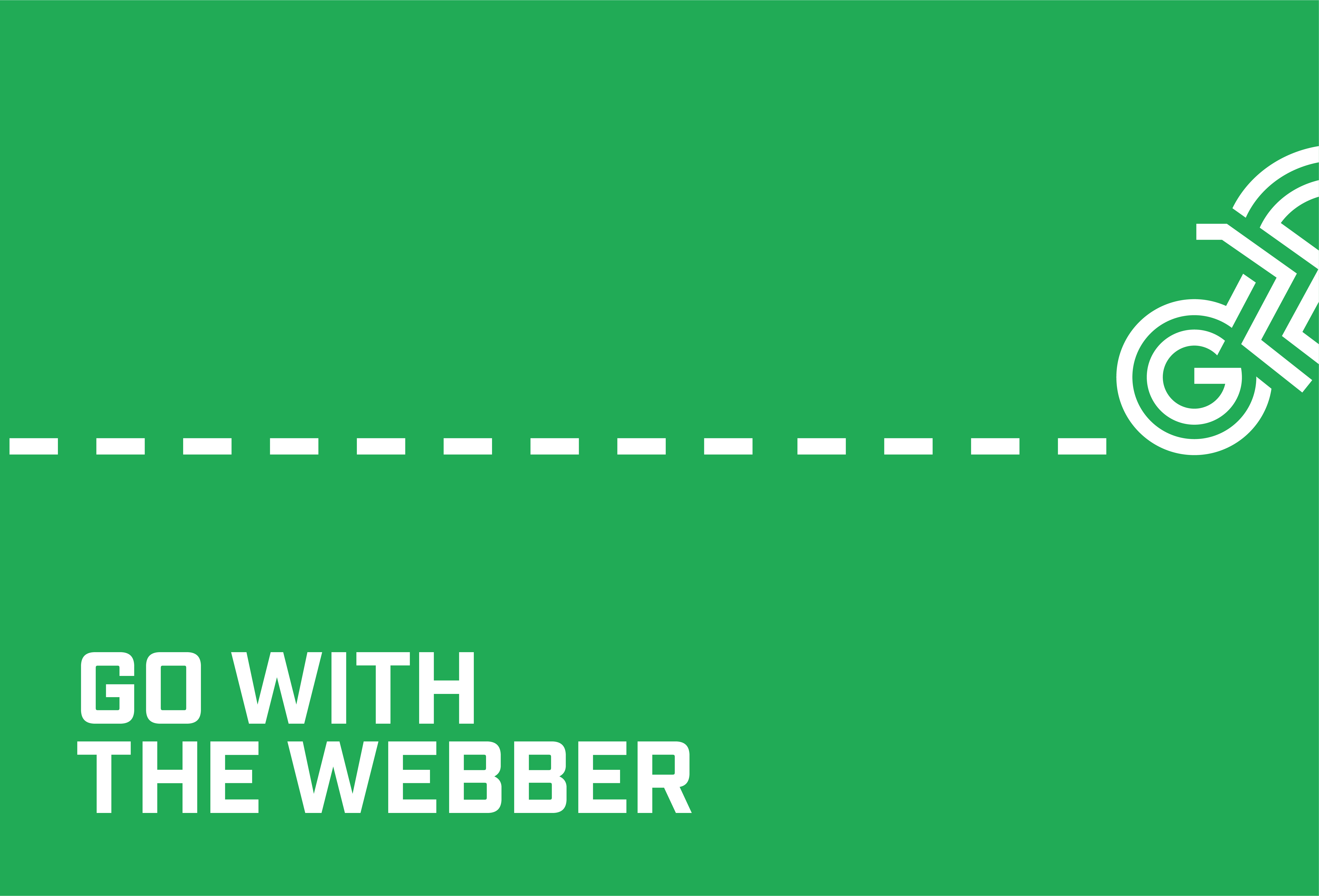 go with the webber cycling tour ad design