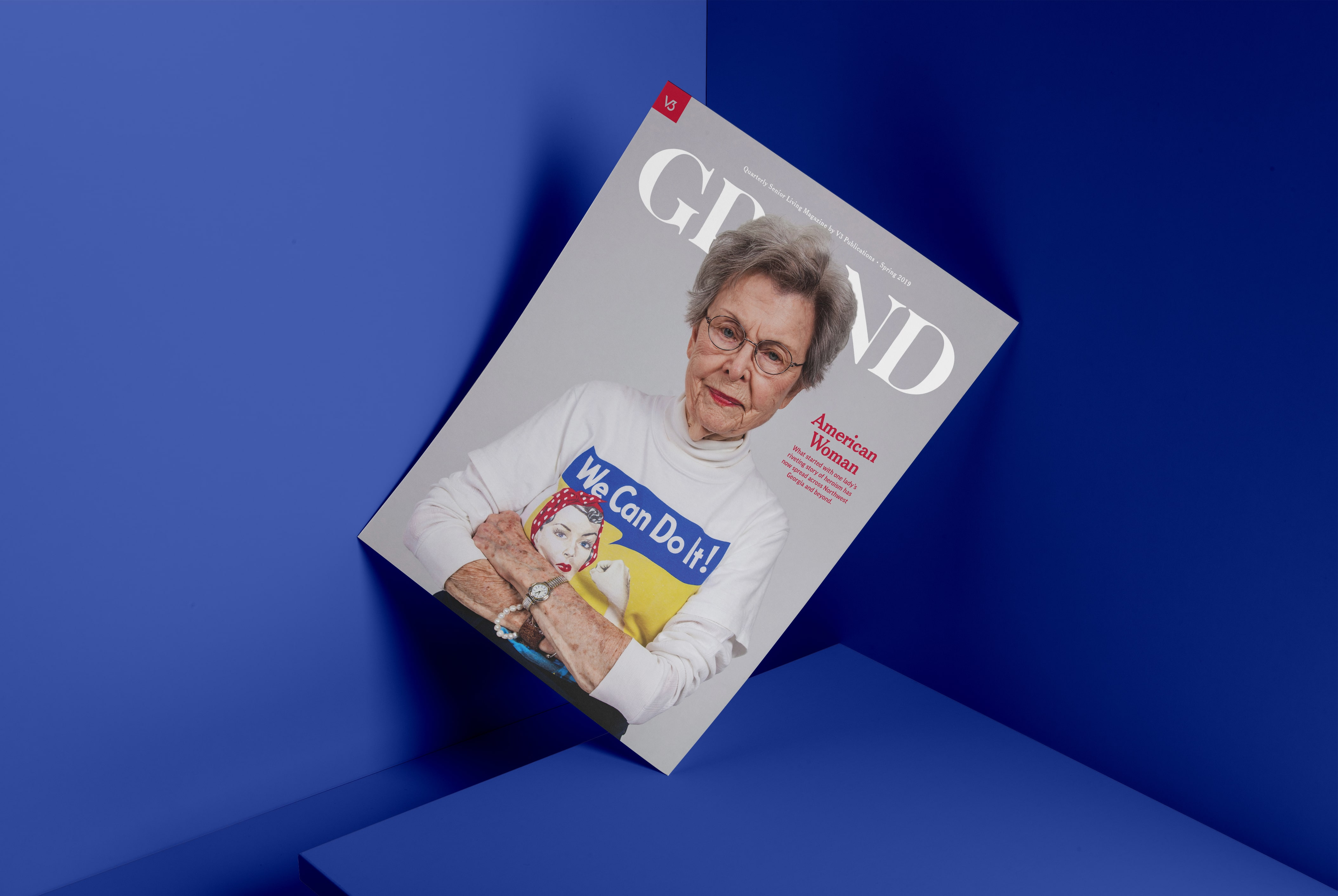 v3 grand magazine cover design