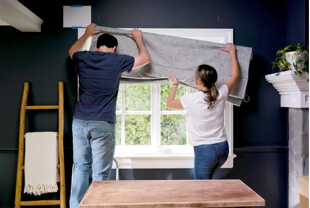 How to install drapery