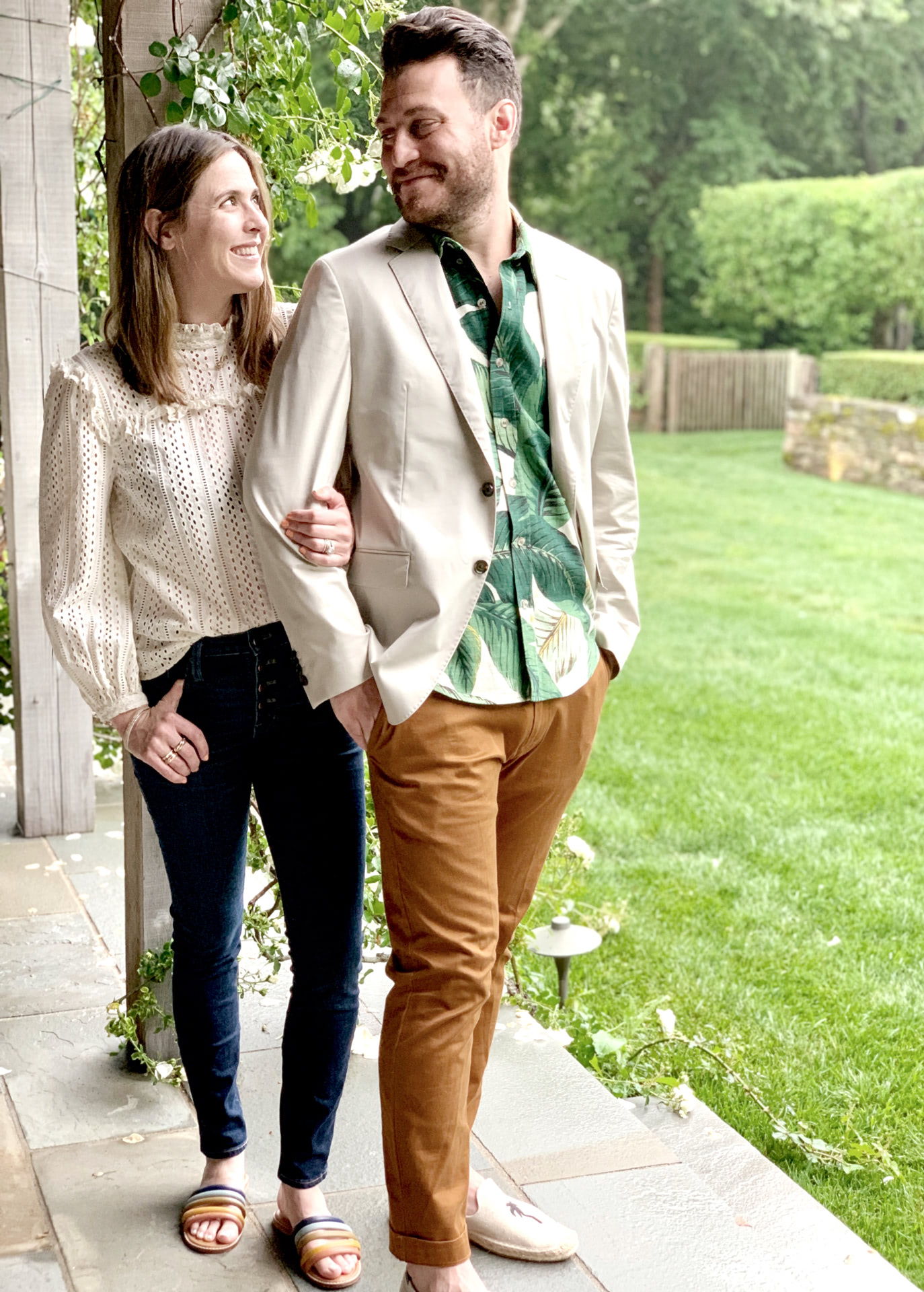 Haley Weidenbaum and her husband walking along a path | Everhem