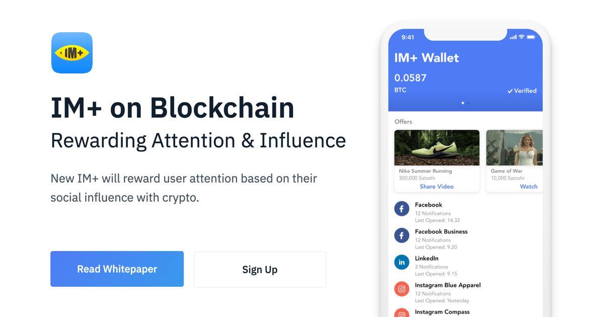 IM+ Attention Platform on Blockchain