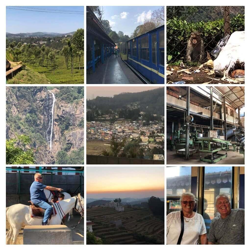 Collage of photos for the Bangalore Mysore tour.