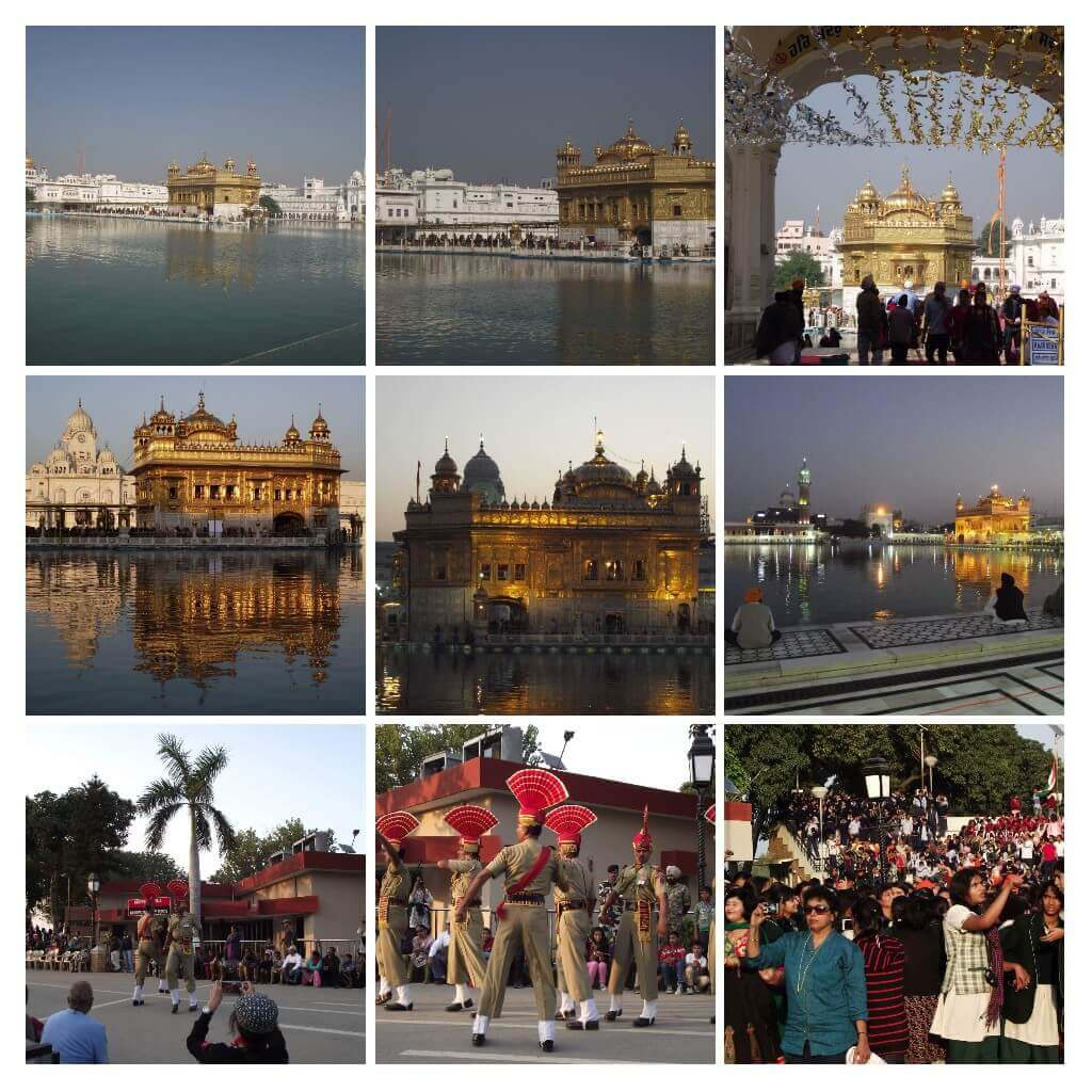 Wagah border, Amritsar, photo collage of the tour.
