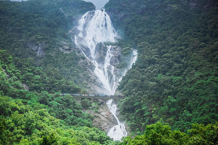 A beautiful picture of Dudhsagar Waterfalls