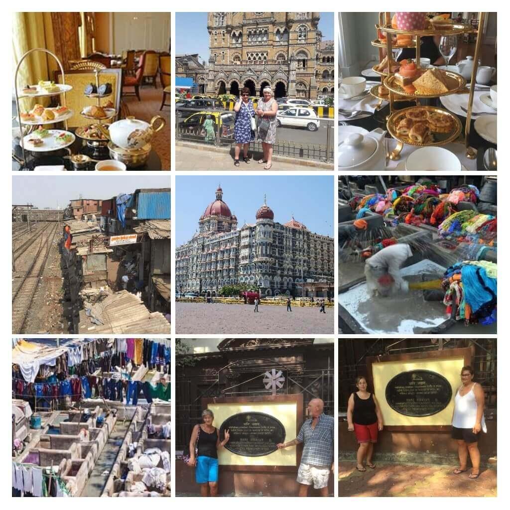 Collage of photos for mumbai tours from Goa