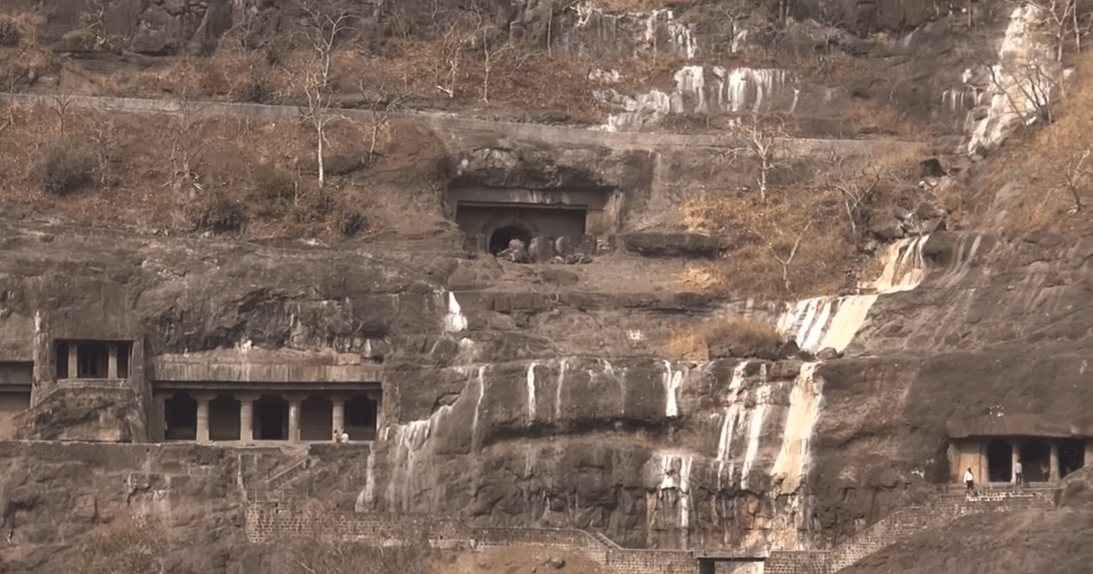 This is a picture of one of the caves of Ajanta from the Ajanta & Elora package tour from Mumbai
