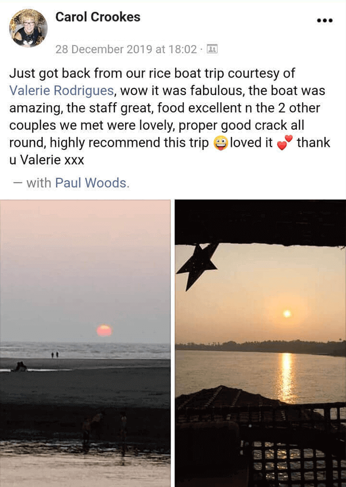Riceboat Goa Dec2019 reviews