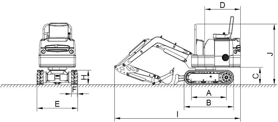 Esquema Miniexcavadora XN08