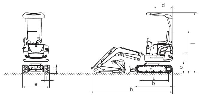 esquema miniexcavadora XN18