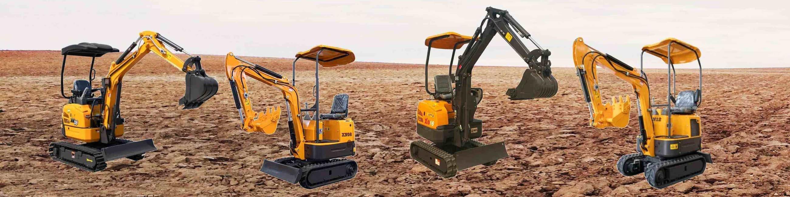 Mini Excavators in Sand