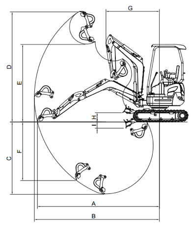 drawing Mini Excavator XN20