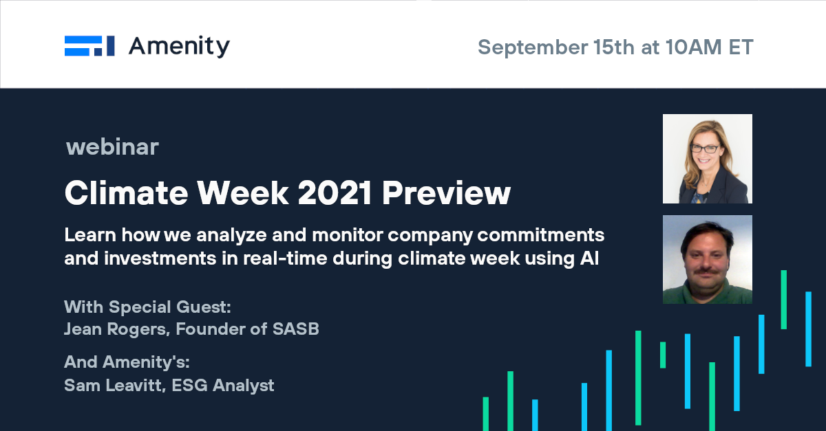 [Video] Climate Week 2021 Preview