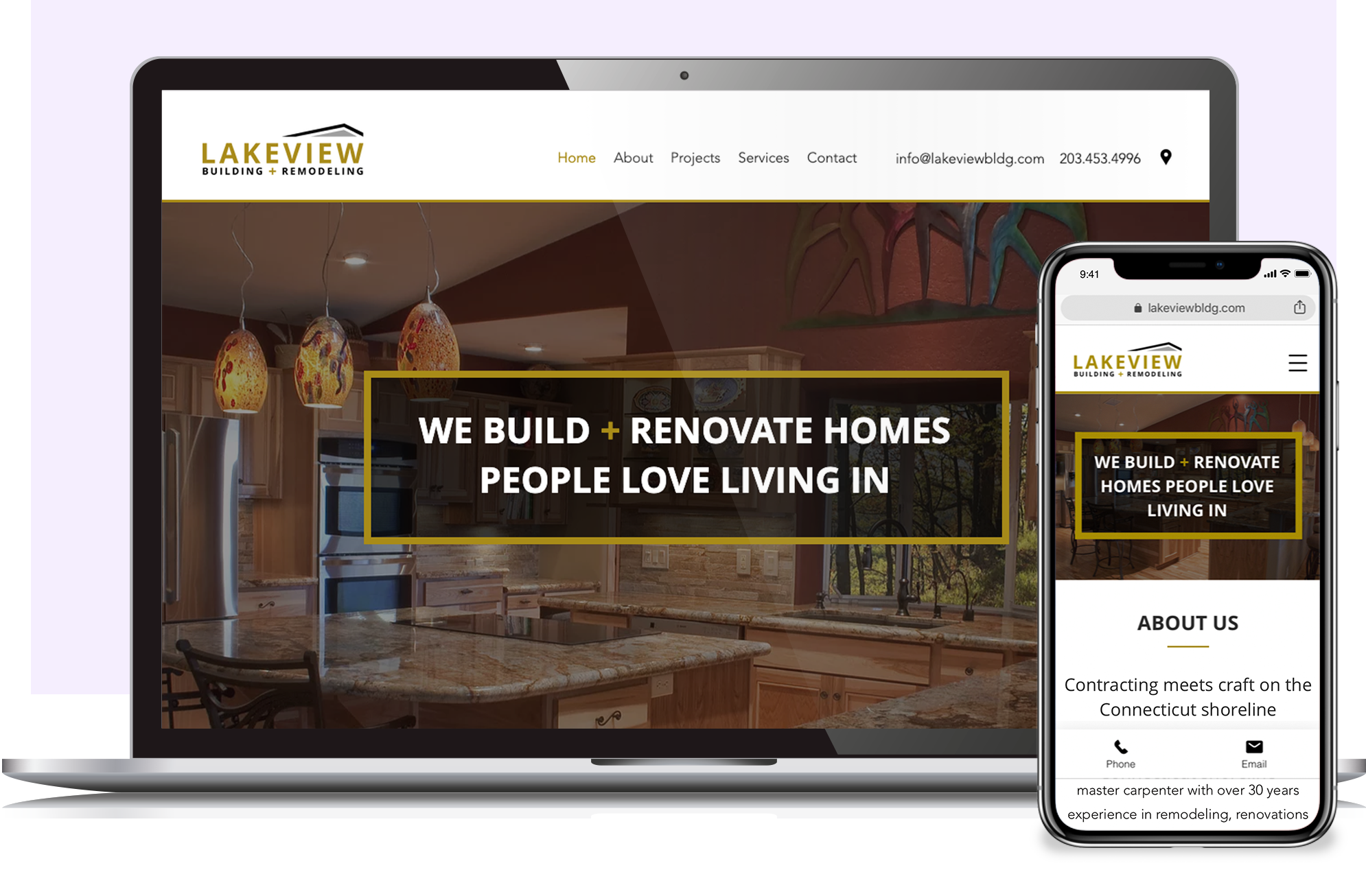 Lakeview Building & Remodeling website