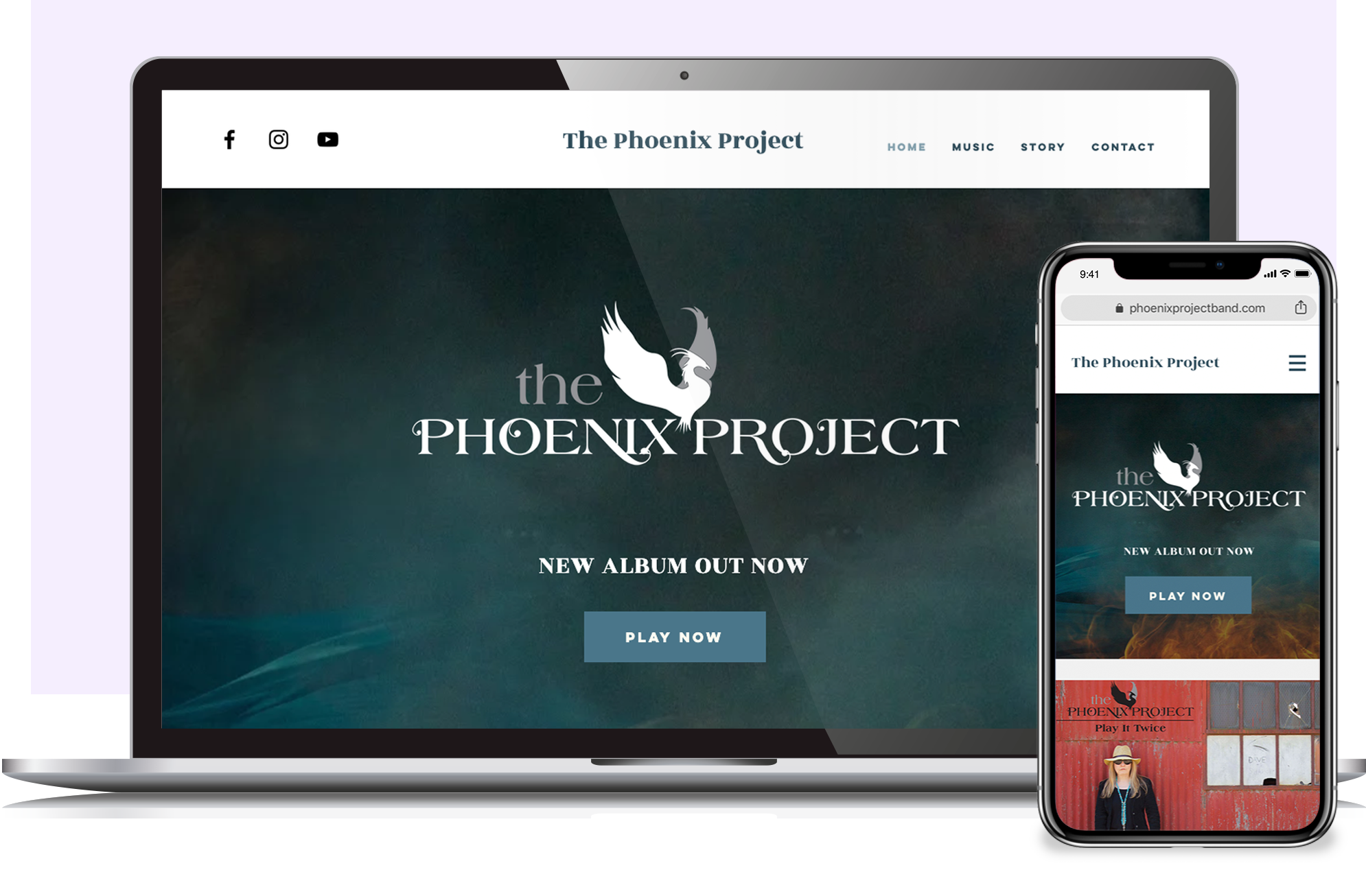 The Phoenix Project music website