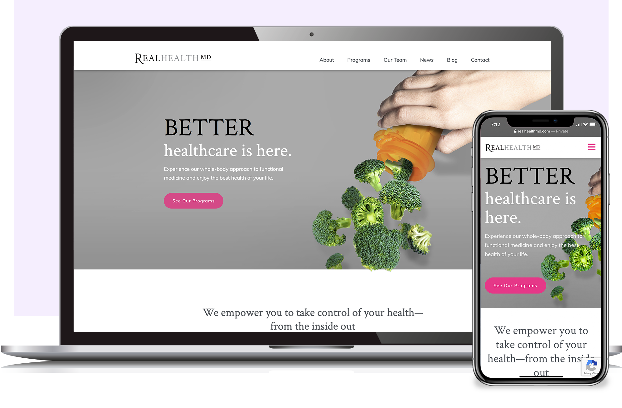 Real Health MD website