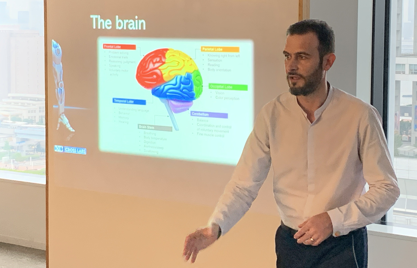 Dr. Antoine Pasquali presenting