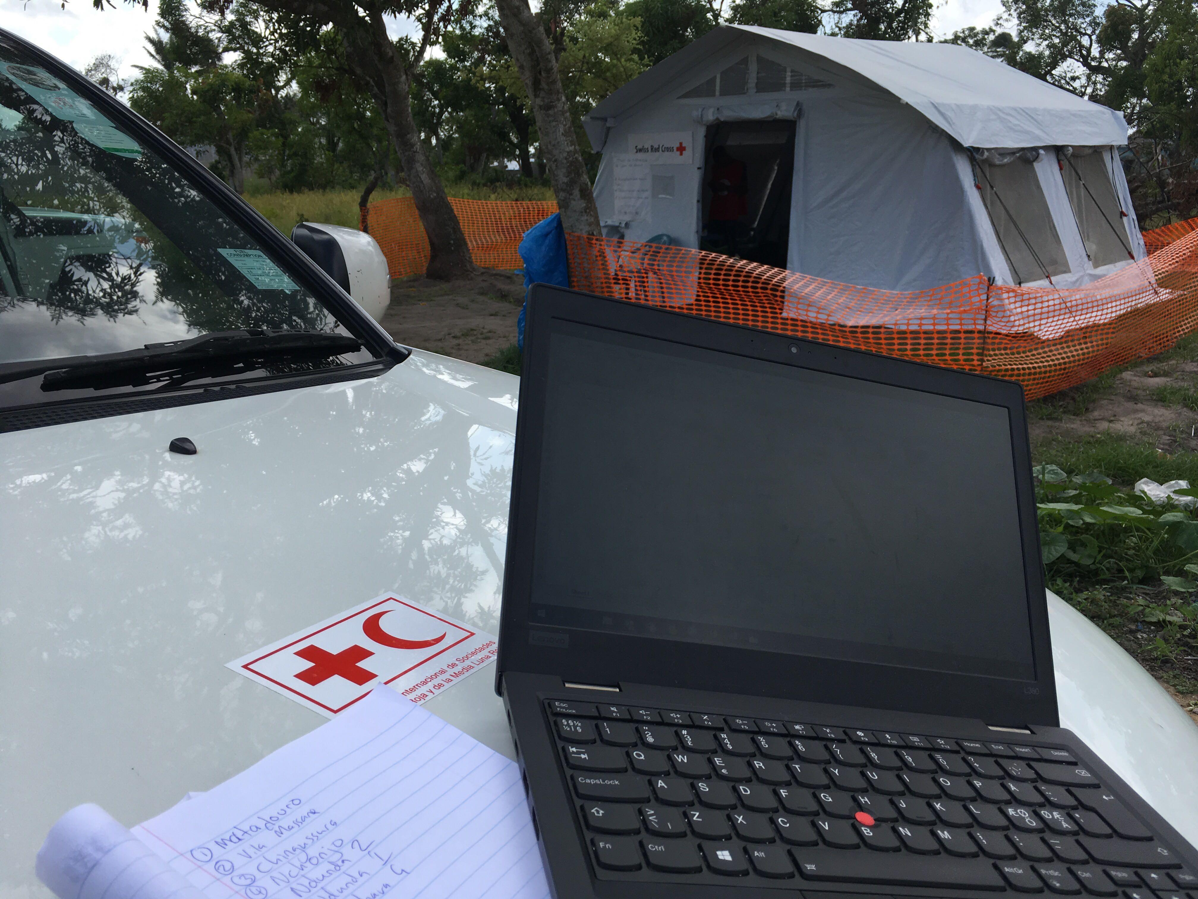 Red Cross Car