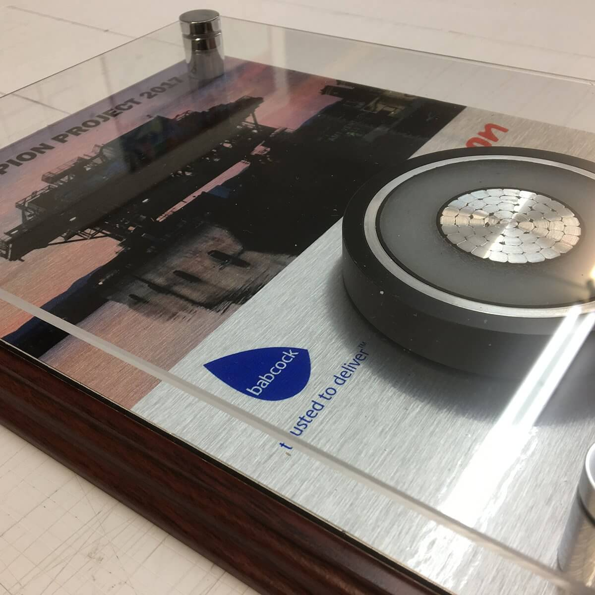 Engraving and printed plaques