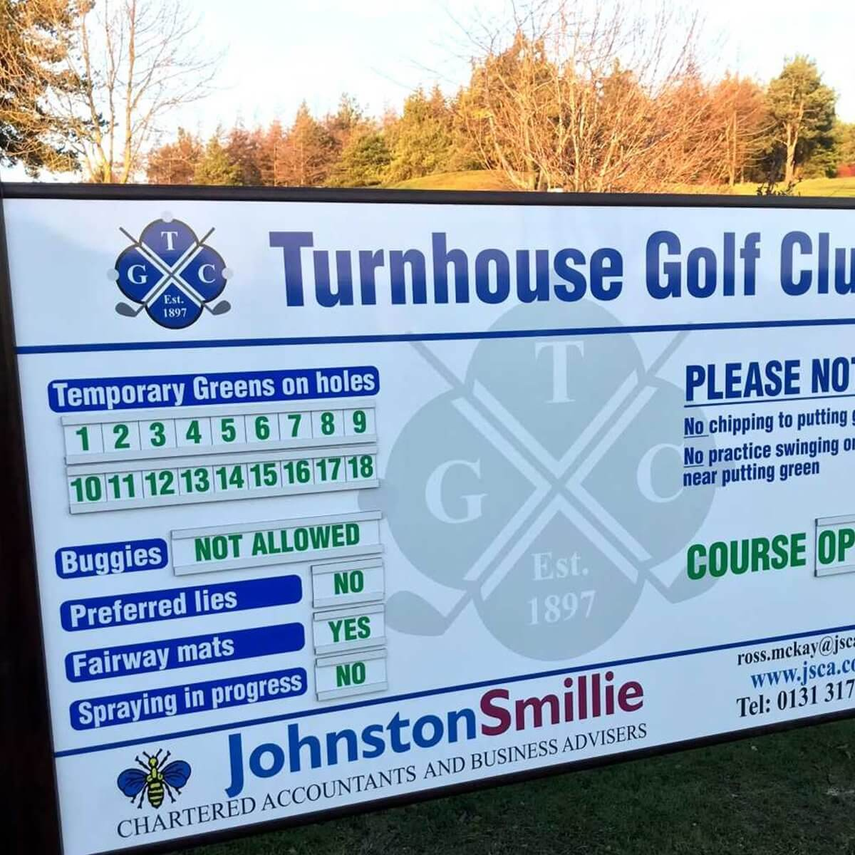 Halian Signs, Golf Course Signs, House Signs