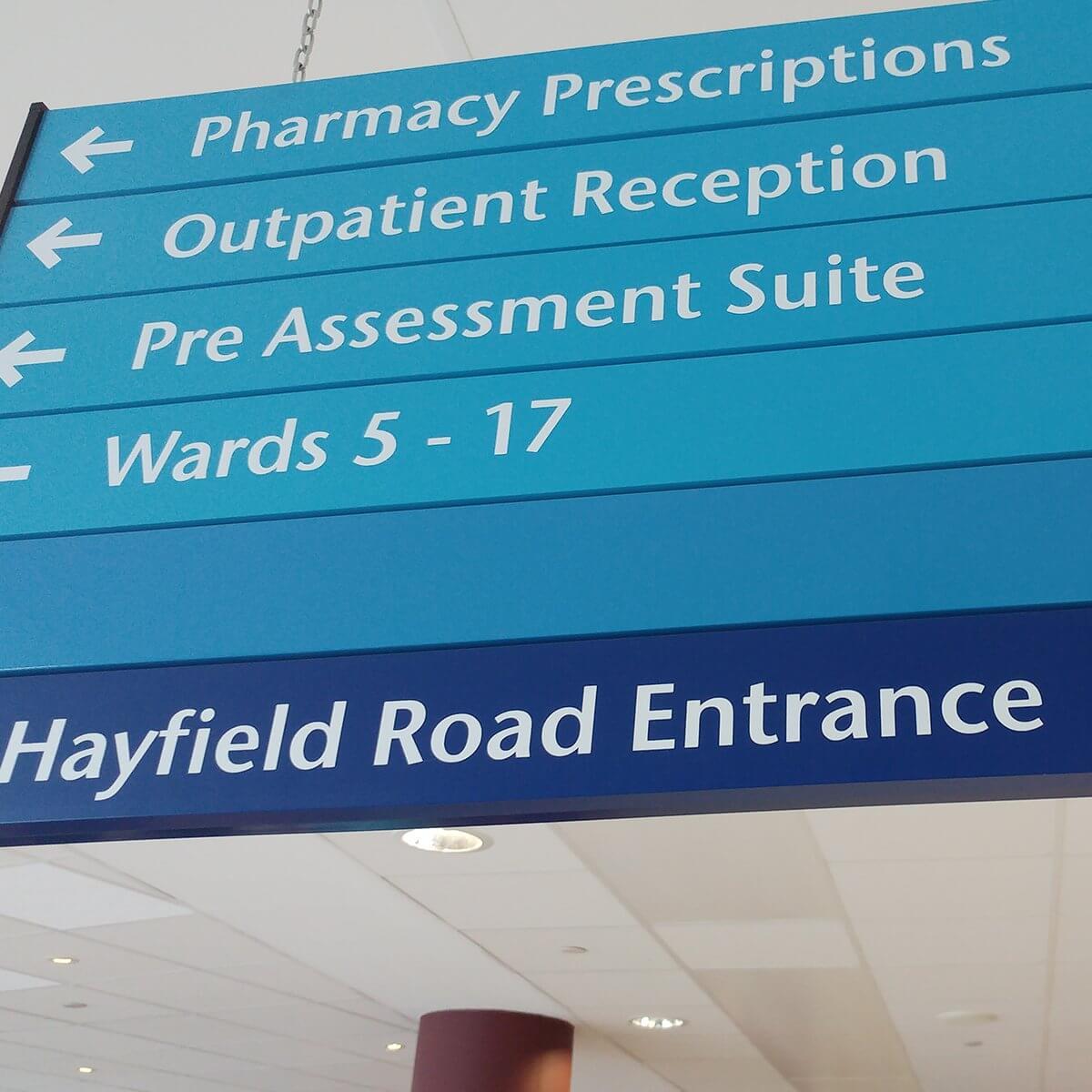 Design & Signage, Printed Displays, Hospital Signs