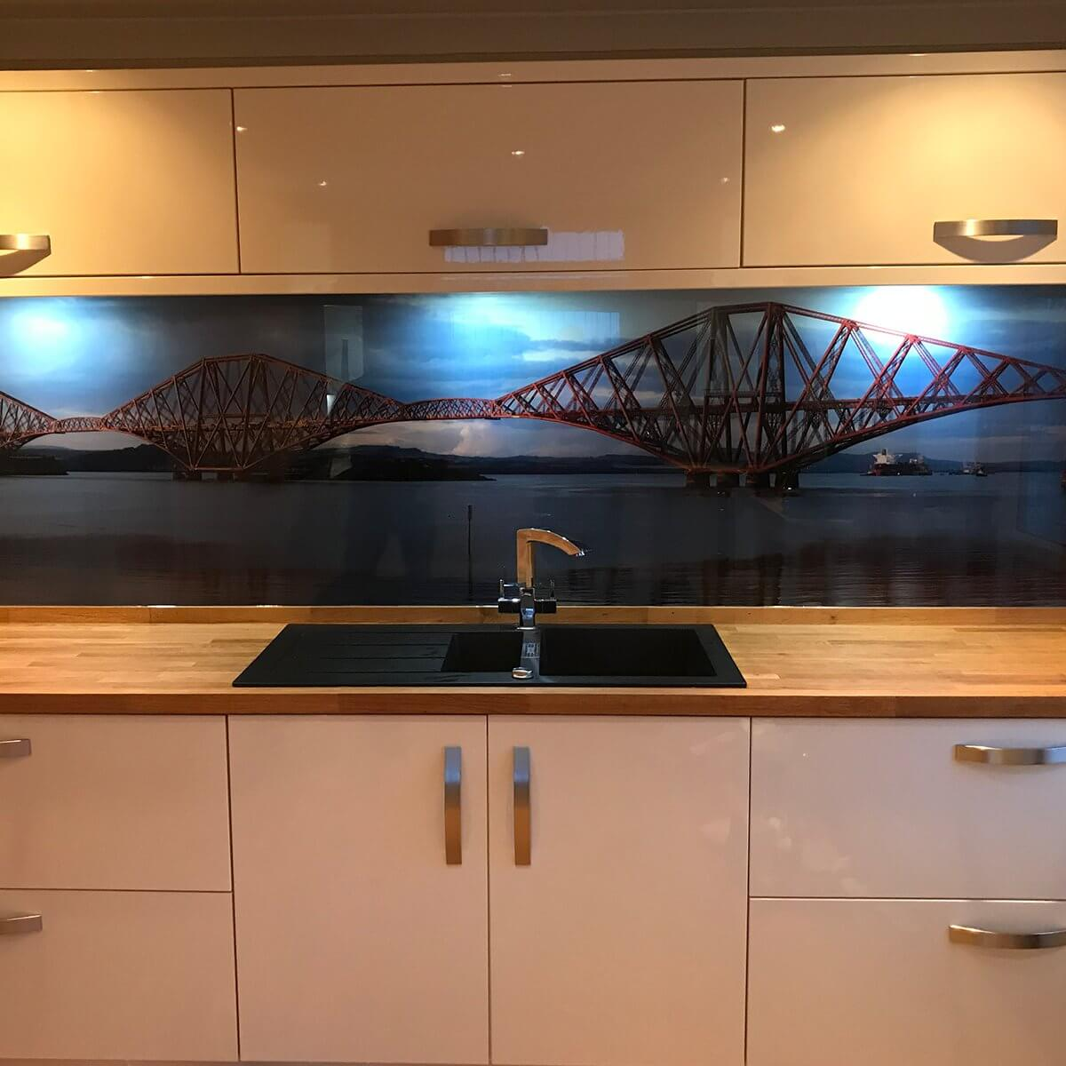 Printed backsplash
