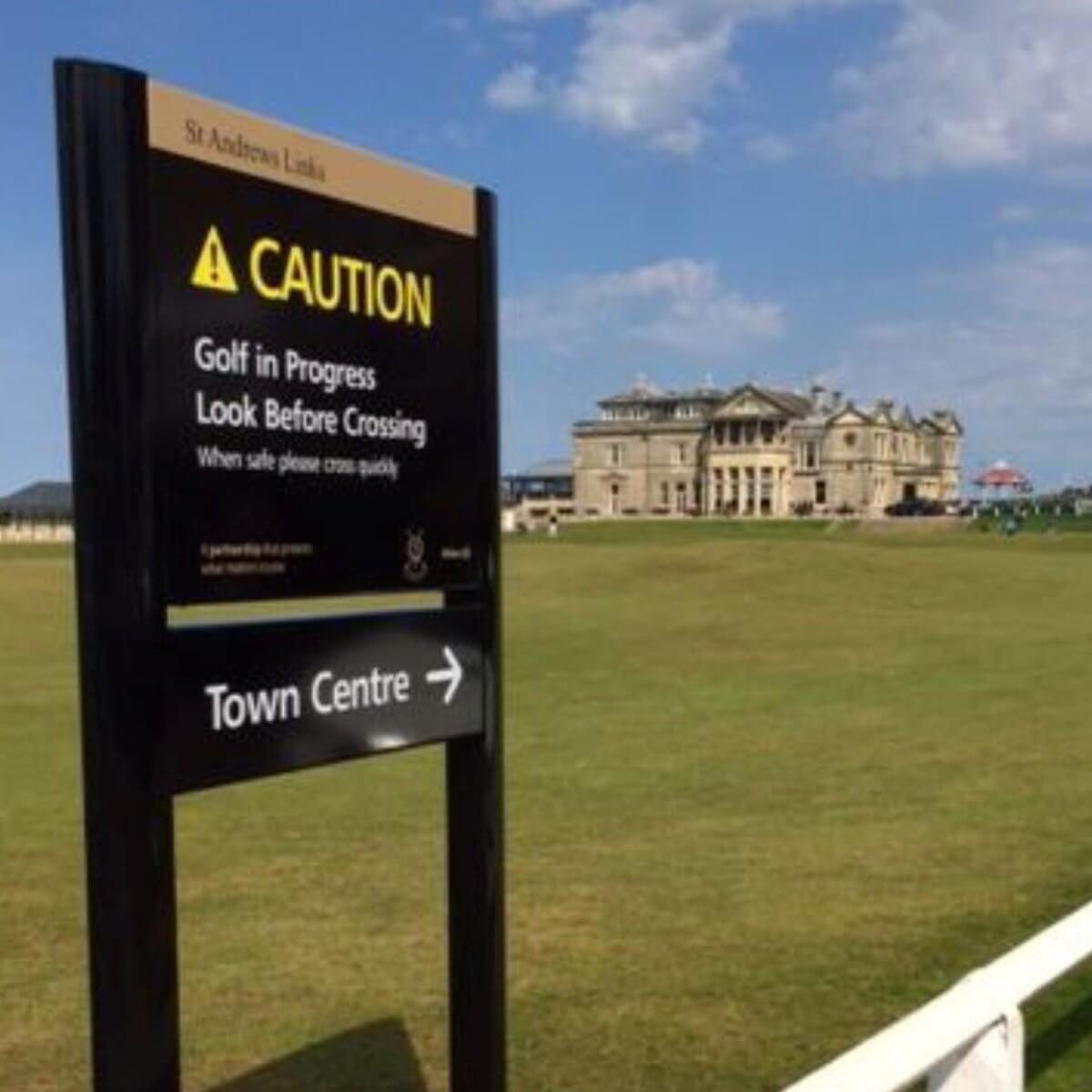 Design & Signage, golf course signs