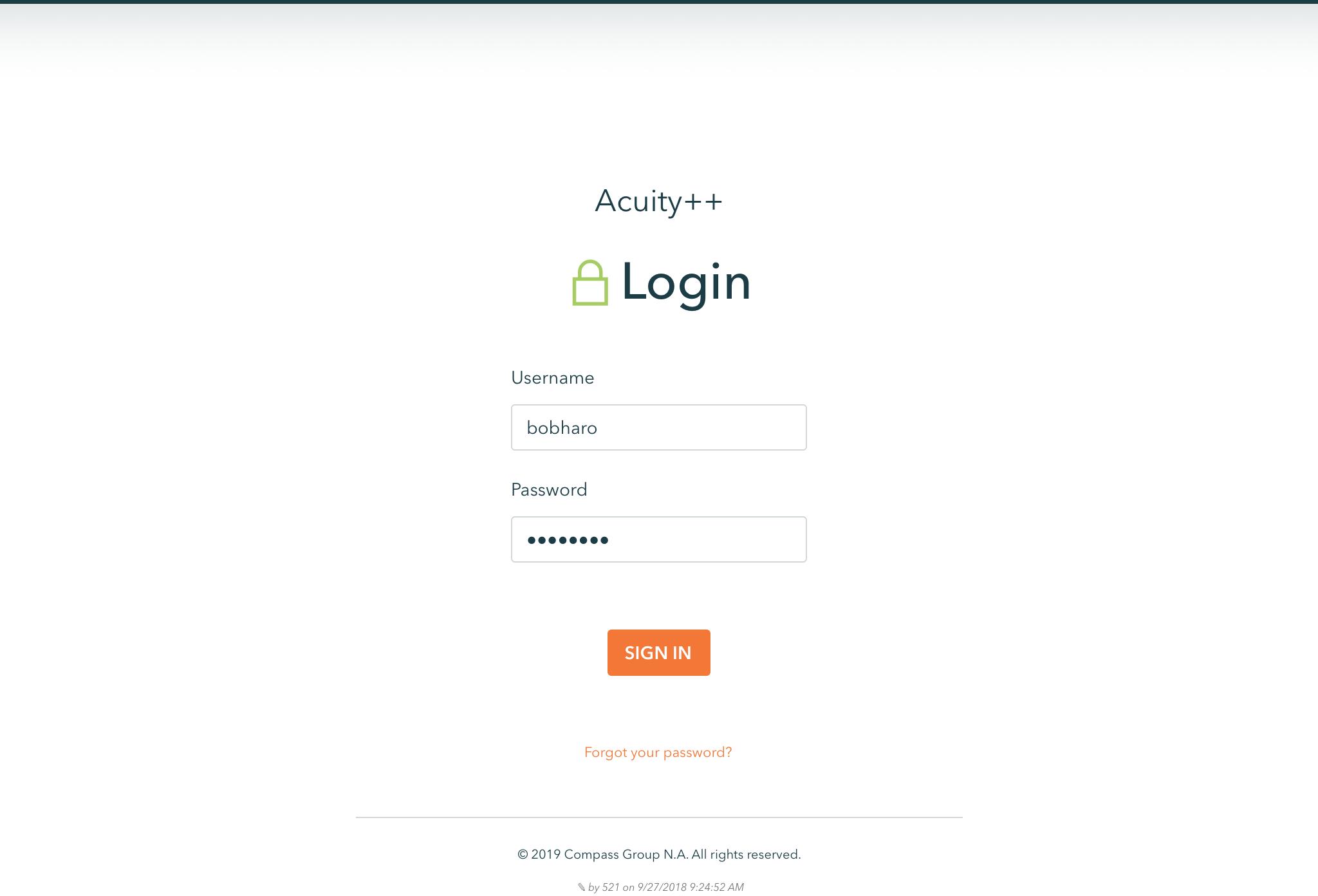 Login - Desktop