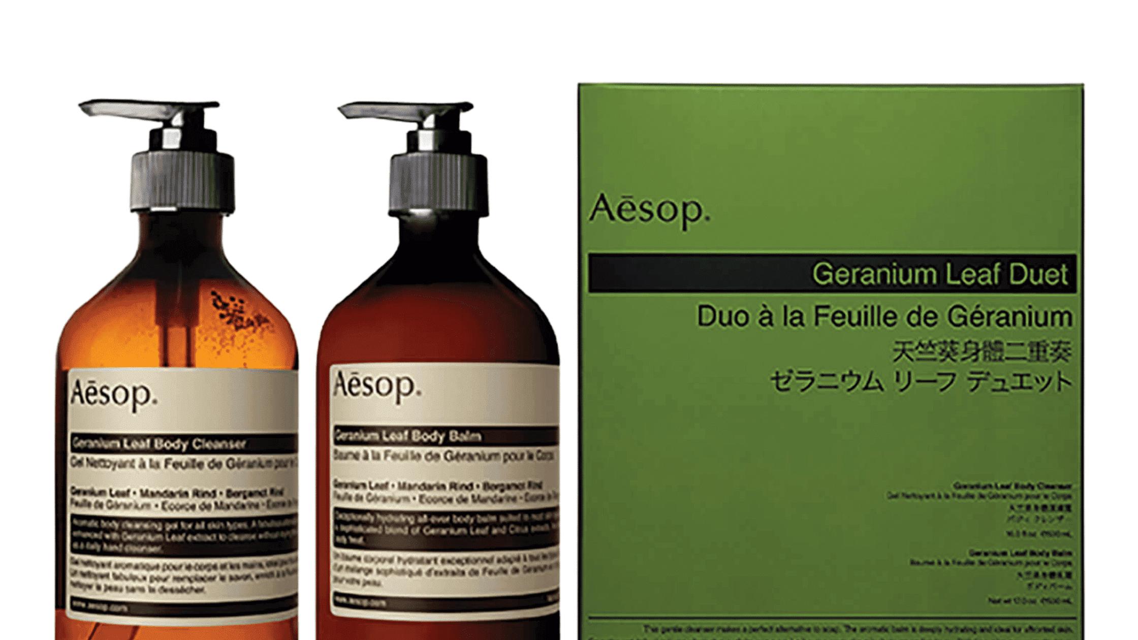 Aesop Geranium Leaf Duet