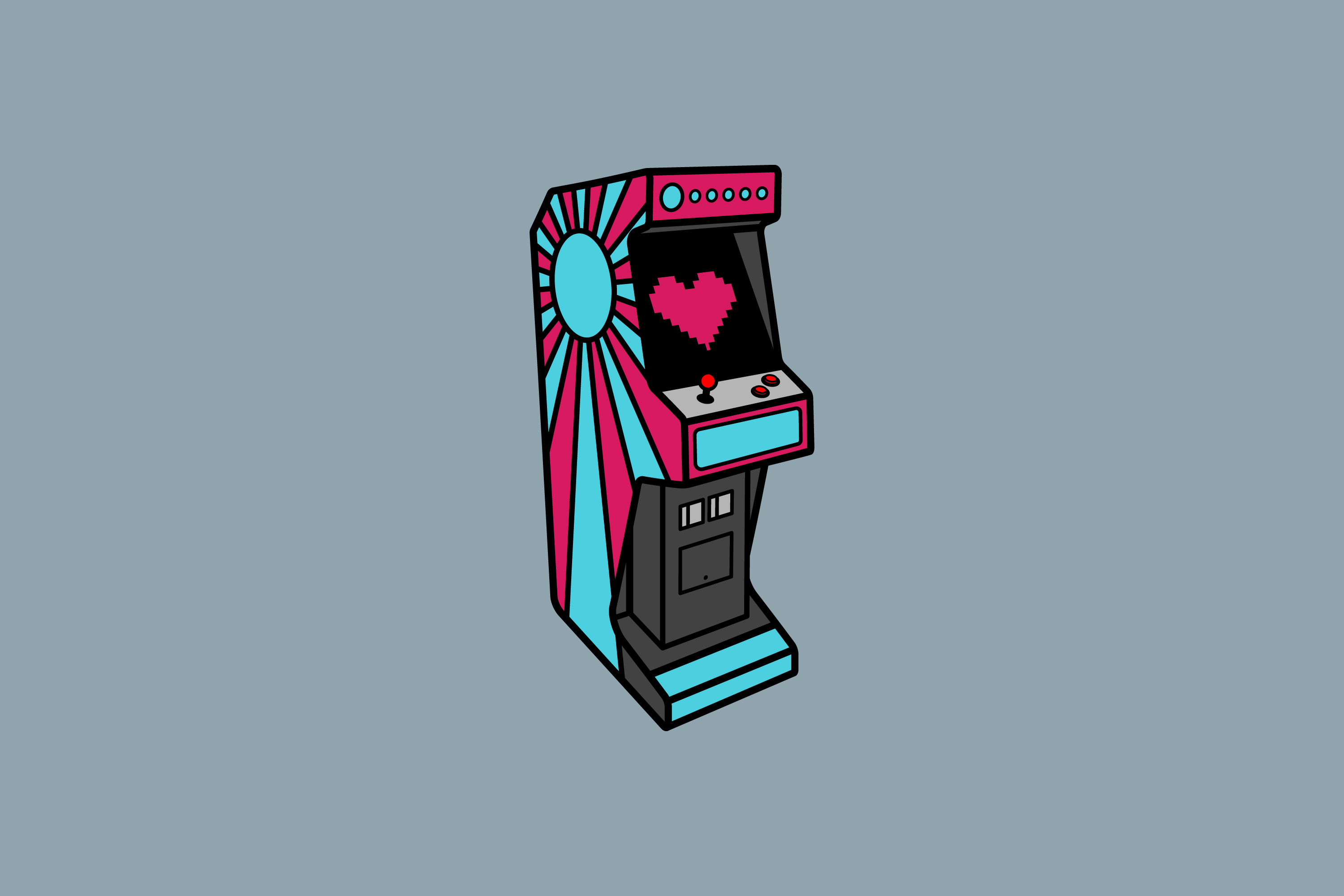 Illustration of an Arcade Machine