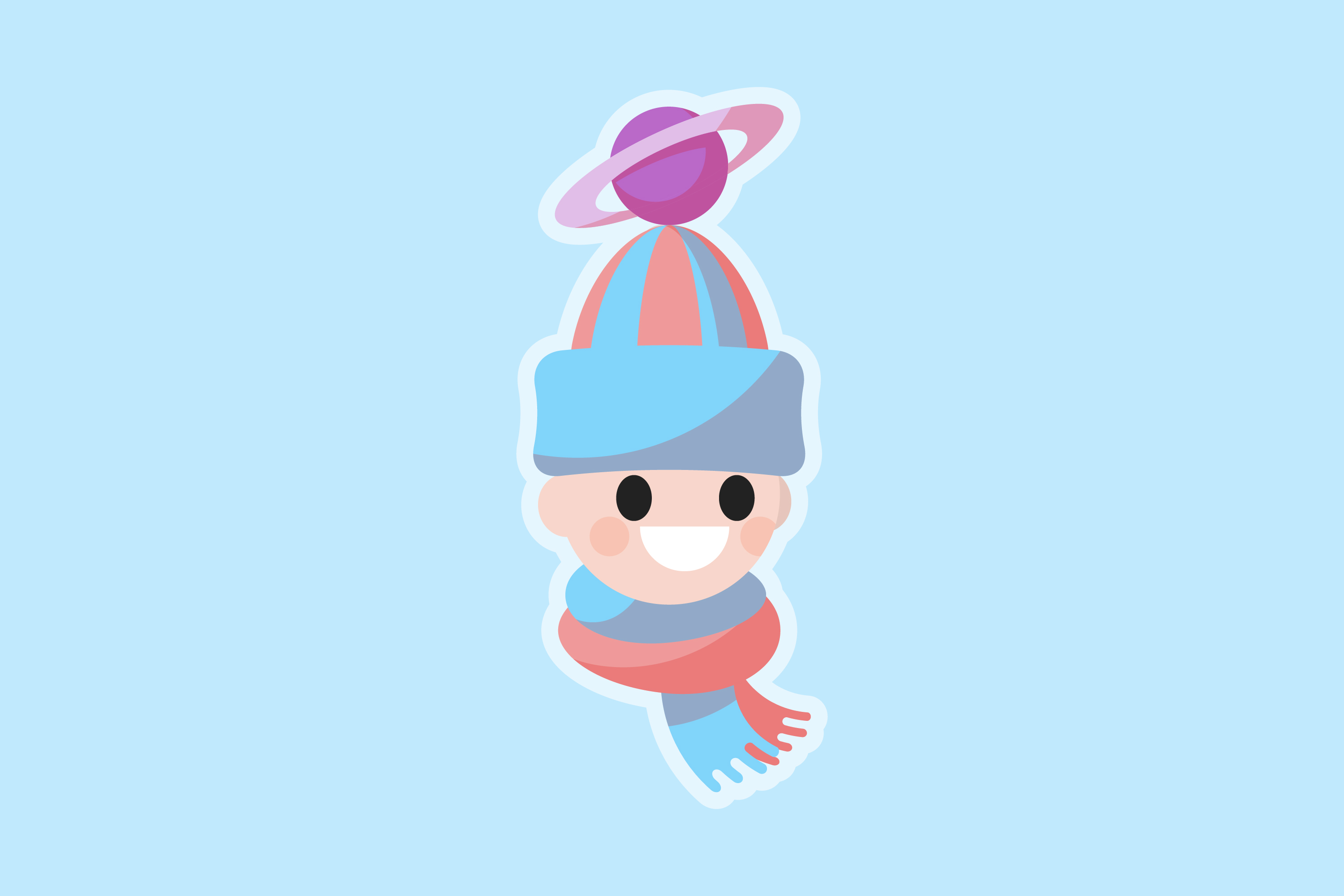 Illustration of Planet Bobble mascot
