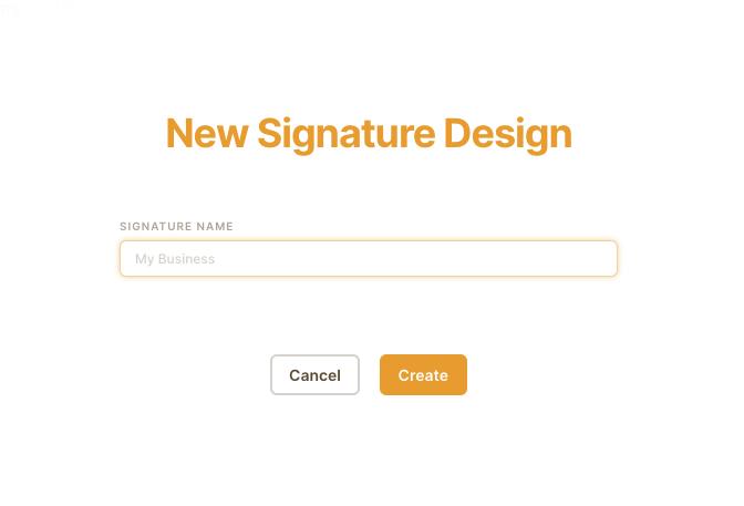 Signaturehound.com first step